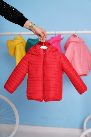 Children's Coat Hooded 1-5 Years Red