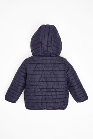 Kids Coat Hooded 1-5 Ages Navy Blue