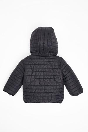 Kids Coat Hooded 1-5 Years Black