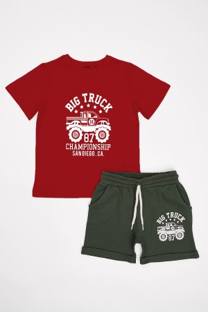 Boys Shorts Suit Big Truck Printed Ages 2-5