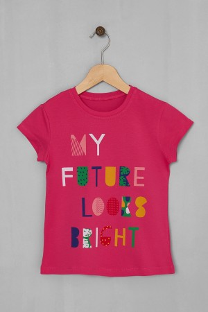 Girl's Tsihrt My Future Printed 5-8 Years